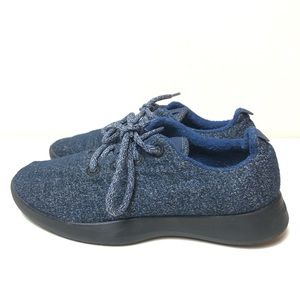 Allbirds Navy Wool Runners in Savanna Night